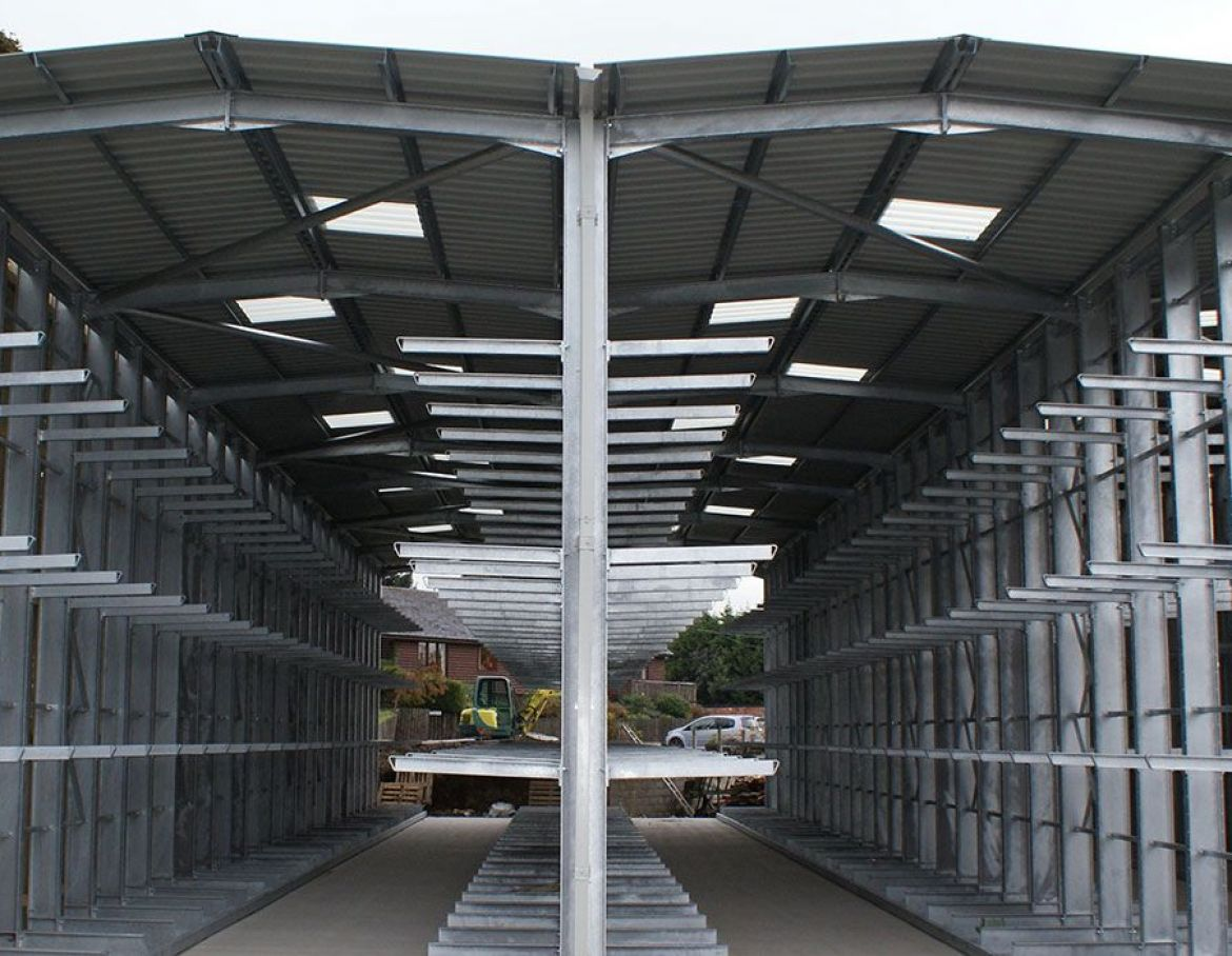 Cantilever Racking With Canopies 1