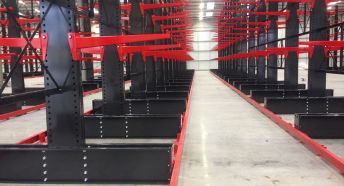 Guided Aisle Cantilever Racking